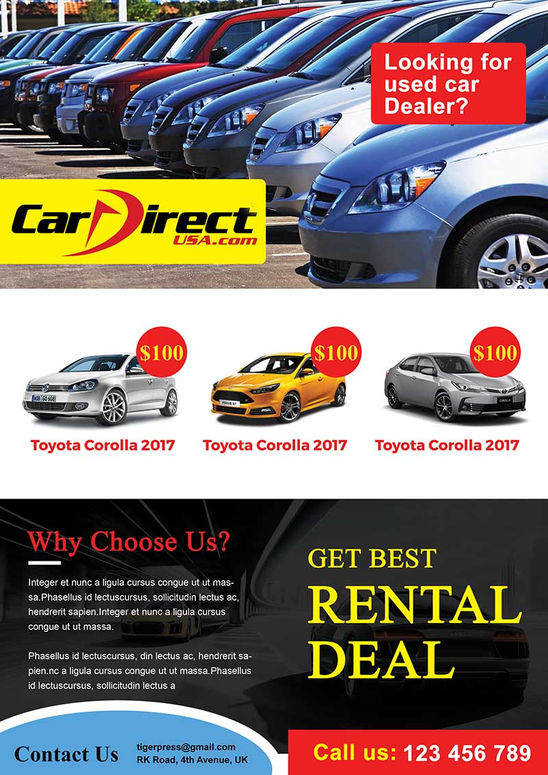 Used Car Dealers – Business Flyers